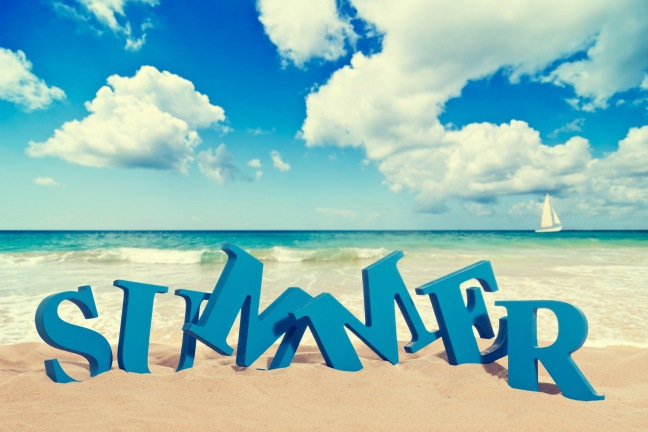 Summer 3D Text on Sand HD Wallpaper